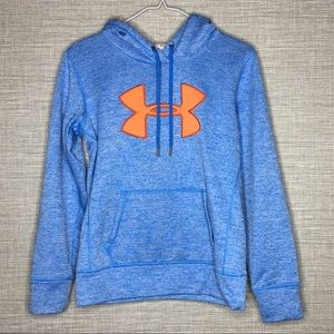 Under Armour Womens XS Blue Orange Sweatshirt